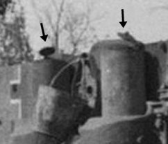 Exhaust valve on an Early Tiger