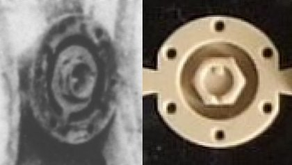 Hub for outermost wheel, on Tiger and in model