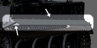 Later type of side skirt on CAD preview