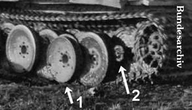 Tiger road wheel damage